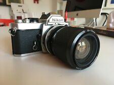 Nikon FM corpo macchina analogico analog camera body with nikkor lens 35-105