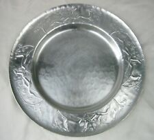 Vintage 1950s Hand Forged Everlast Metal Aluminum Tray with Deer Antelope