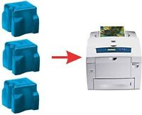 3x NON-OEM 8560 8560DN DX 8560MFP CYAN XEROX PHASER SOLID INK STICK 108R00723