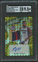 2016-17 SPECRTRA ROOKIE PATCH AUTOGRAPH GOLD BUDDY HIELD AUTO RC SGC 9.5