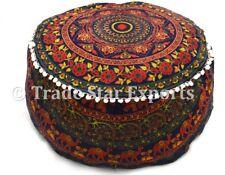 Mandala a sedere OTTOMAN POUF Copertura POGGIAPIEDI Pouf Indiano Boho BEAN BAG CASE