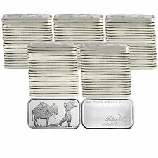 SilverTowne Prospector 1oz .999 Silver Bar (100pc)