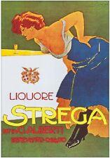 "TARGA VINTAGE ""1860 LIQUORE STREGA"" Pubblicità, Advertising, Poster Plate, Retro"