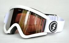 2018 NWT ELECTRIC EGV SNOWBOARD GOGGLES $100 Gloss White / Brose lightweight