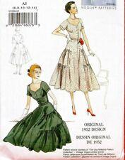 Vogue V9106 Vintage Retro Model Original 1952 Design Style Dress 6-14 Pattern Uc