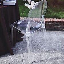 """Clear 36"""" Transparent Dining Chair Oval Back Wedding Reception Party Decorations"""