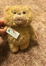 """Ted Talking Bear Plush 8"""" Light Brown Commonwealth Toys Rated R 2012 New"""