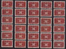 K53* Lot Timbres France Oblitérés n°1396 (1963) EUROPA x30 pour étude