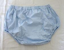 PVC-U-Like PVC Pants Roleplay Blue Panties Knickers Plastic L Baggy Wide Crotch