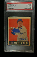 1948 Leaf - Elmer Valo - #29 - PSA 6 - EX-MT