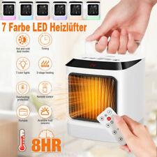 LED Digitaler Heizlüfter Ventilator 800W Fernbedienung Heizung Elektro Heizgerät