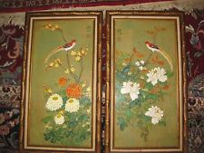 Pair of vintage Chinese paintings, signed