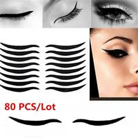 80pcs Eyelid Adhesive Tape Temporary Eyeliner Sticker Invisible Strips Makeup
