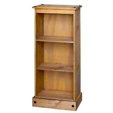 Corona Premium Quality Waxed Solid Mexican Pine Low Narrow Bookcase