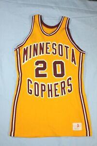 Vintage Mitchell & Ness early 1970s Spanjian Minnesota Gophers Basketball Jersey
