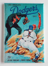 Dodgers Program FRIDGE MAGNET (2 x 3 inches) los angeles baseball scorecard