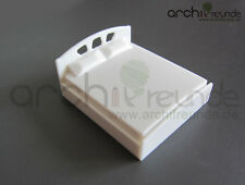 1 Model Double bed white for diecast models 1:50, Model railway O gauge
