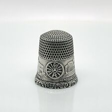 Simmons DAR Sterling Silver Thimble - Sewing Daughters American Revolution SL