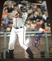 Julio Franco Autographed Atlanta Braves 8x10 Photo Gdst Hologram
