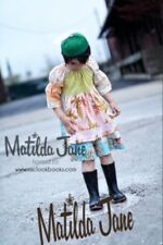 Girls Matilda Jane Platinum/art fair Calico Garden peasant dress size 6 VGUC