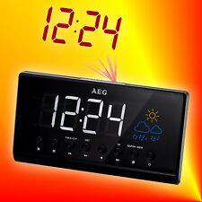 AEG MRC 4141P Radiowecker Uhrenradio mit Projektion, 2 Weckzeiten, Wetteranzeige