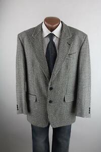 Linea Massima schwarz-weißes Tweed-Sakko Gr.52/L Wollmischung Top Zustand