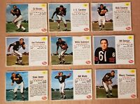 1962 Post Cereal Chicago Bears 9 card lot Casares Galimore George Jones Wade