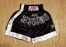 Nwot Mens Fbt Muay Thai Boxing Mma Black Shorts Large