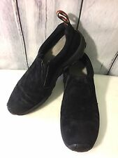 Merrell Mens Jungle Moc Midnight Black Suede Nubuck Slip On Loafers Size 9