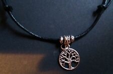 Black cord The Tree of Life Choker / necklace Wiccan Pagan Gothic* sacred oak*