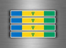 4x sticker decal car stripe racing flag bike moto tuning st vincent grenadines