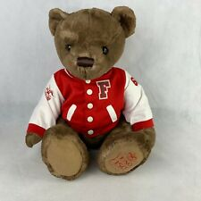 Fao Schwarz 150 Years Anniversary Brown Teddy Bear Plush Varsity Jacket