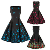 1950s Retro Vintage Style Rockabilly Pleated Party Dress Plus Size Swing Dress
