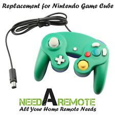Green Game Pad Cube Controller Remote For Nintendo Wii GameCube Brand New 3Z