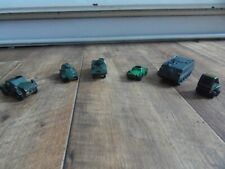 VINTAGE CORGI & LESLEY JOBLOT SCOUT CAR,ARMOURED CAR, PERSONAL CARRIER & MORE