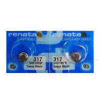 2 x Renata 317 Silver oxide batteries 1.55V SR516W Watch 0% Mercury