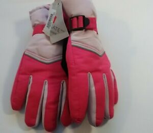 Champion Girls Snow Winter Ski Glove Pink 3M Thinsulte Waterproof Size 8/16