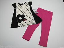NWT DKNY 2 Pc. Tunic Dress Top & Leggings Toddler GIrls 4T $46