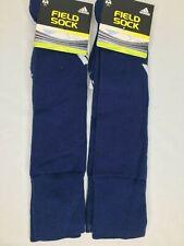 2x Adidas Climalite Dark Blue and White Logo Field Socks sz M Medium