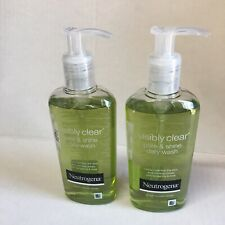 Lot 2 Neutrogena Visibly Clear Pore & Shine Daily Wash (200ml) 6.7 ounces