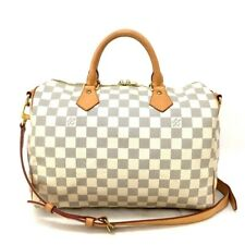 Authentic Louis Vuitton Damier Azur Speedy Bandouliere 30 Hand Bag /30655