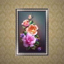 5D Flower Diamond Embroidery Painting Cross Stitch DIY Art Craft Home Decor