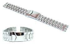 Cinturino olorogio in acciaio inox tipo swatch ansa 22-20mm bracciale deployante