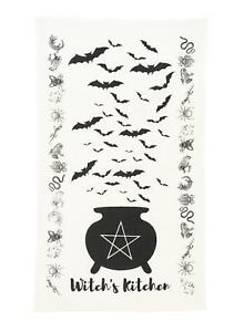 Witch's Kitchen Towel - Cauldron with Bats Must Have For Witches Occult Rituals