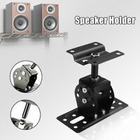 180° Wall Mount Speaker Holder Stand Bracket Aluminum Alloy Ceiling Support US