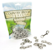10 - Country Brook Design® 3/8 Inch Baby Swivel Snap Hooks