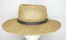 Vintage Stetson Straw Sun Hat Size S/M Tan Woven Made In Mexico