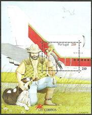 Portugal - Naturschutz Falknerei Block 102 postfrisch 1994 Mi. 2036