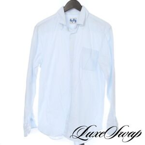 #1 MENSWEAR Anglo American Made in Italy Blue Oxford Cloth OCBD Shirt 16 NR
