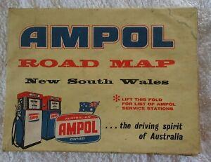 Vintage AMPOL Road Map